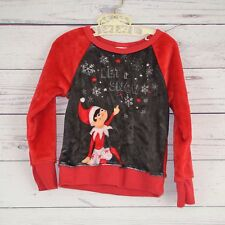 Children's Sleepwear X-mas Elf on the Shelf Red top Long Sleeve extra xs