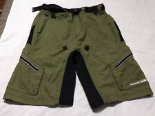 Men's Cannondale Army Green Casual Cargo Cycling Shorts Size S