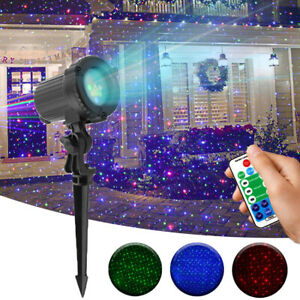 ALIEN Moving Static RGB Dots Star Christmas Laser Light Show Outdoor Projector
