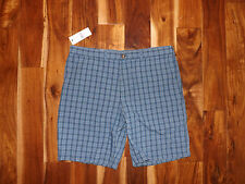 NWT Mens TOMMY HILFIGER Mainsail Blue Plaid Classic Fit Shorts Size 40 W