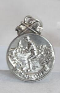 Vintage HM Sterling Football Fob / Medal