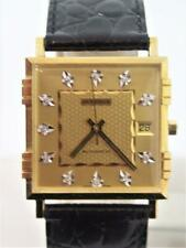 NOS 18K Gold JUVENIA MACHO Mens 25J AUTOMATIC Watch Ref 8902 with Diamond Dial