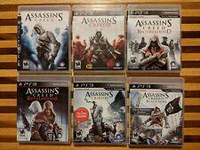 Assassins Creed PS3 Lot: Games 1,2,3,4 Brotherhood & Revelations!
