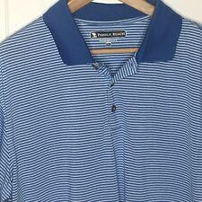 Pebble Beach Blue Stripe Polo Golf Shirt Short Sleeve Sz XL (ba)