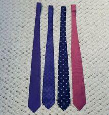LOT OF 4 Brooks Brothers 346 Men's Silk Necktie Tie Red Blue Flower Pattern