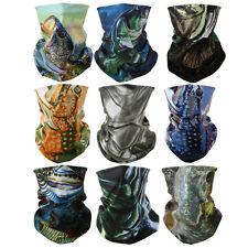 9pcs Fishing Face Bandana Sun Shield Headwear Neck Tube Scarf Headwear Outdoor