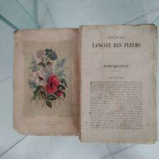 Ancien Livre Le Langage Des Fleurs Emma Faucon éditeurThéodore Lefèvre