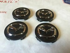 NEW MAZDA SET OF 4 CENTER WHEEL WHEELS RIM RIMS CAP CAPS G22C37190A 56MM BLACK