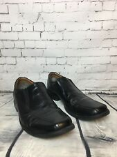 Clarks Men's Black Cushion Cell Leather Slip-on Shoes - Size UK 9.5