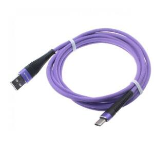 10FT USB CABLE PURPLE TYPE-C CHARGER CORD POWER WIRE for SMARTPHONES & TABLETS
