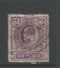 Cape of Good Hope George V  Revenue Stamp Duty 6d Mauve Used