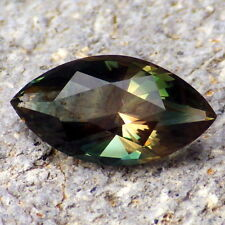 GREEN-TEAL DICHROIC SCHILLER OREGON SUNSTONE 4.46Ct FLAWLESS-FOR TOP JEWELRY!