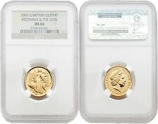 Great Britain Britannia 2001 (Una and the Lion) 25 Pounds 1/4 oz Gold NGC MS66