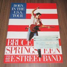 with Osaka TICKET! BRUCE SPRINGSTEEN Japan TOUR BOOK 1985 CONCERT PROGRAM
