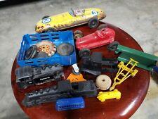 Vintage Marx Midget Toy Steelcraft Tin Japan Santa Fe Trains Tin Toy Lot