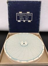 Marshalltown Instruments Dial Thermometer Recording Chart Paper #538 100x NOS 6""