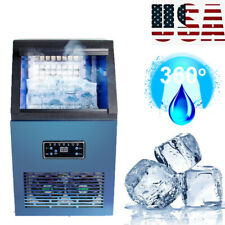 50kgday Auto Commercial Ice Cube Maker Machine Stainless Steel Bar 230w Usa A