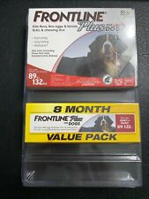 Frontline Plus for Dogs Extra Large Dog (89 to 132 pounds) Flea and Tick 8 doses