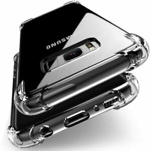 For Samsung Galaxy S10+ / S10Plus Clear ShockProof Tough Rubber Phone Case Cover