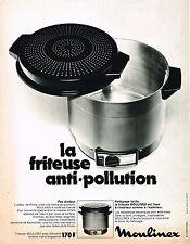 PUBLICITE  1973   MOULINEX  friteuse anti-pollution