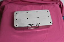 """OR Grade Sterilization Cassette Box 4"""" X 8"""" With Silicone Pad Surgical Instrumet"""