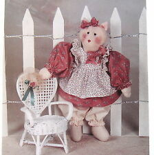 "Prissy Missy Country Primitive Craft Pattern 16"" rag doll Kitty Cat & clothes"