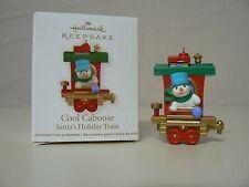 Hallmark Ornament 2011 Cool Caboose Snowman Train Miniature New