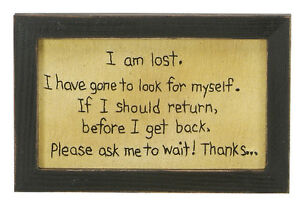 Stitcheries by Kathy Sign - I Am Lost - Hanging/Standing Frame - 23x15cm