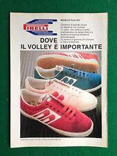 PY27 Pubblicità Advertising Clipping 24x18 cm (1985) PIRELLI SCARPE SHOES