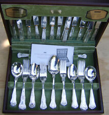 58 piece Viners Buxton Kings Royale canteen of cutlery silver plated