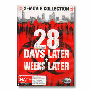 28 Days Later & 28 Weeks Later DVD Movie Region 4 Free Postage - Zombie Horror