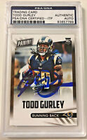 Rams Todd Gurley Signed 2015 Panini NFL Player of the Day Card - PSA/DNA #RC-9