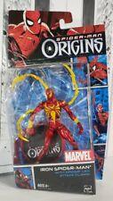 "New listing Spider-Man Origins Iron Spider-Man 6"" Metallic 2006 *Free Shipping* + Free Gift"