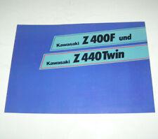 193576 Prospekte Auto & Motorrad: Teile Kawasaki Z 440 Prospekt 197?
