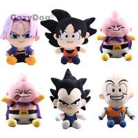 Dragon Ball Z DBZ Son Goku Torankusu Kuririn Vegeta Majin Buu Plush Toy Doll 8''