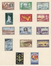 Tonga fine used 1953 definitive stamps