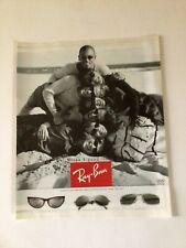 1996 RAYBAN SUNGLASSES  Print Ad  - Group Photo