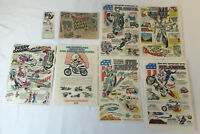 EVEL KNIEVEL Ad Collection ~ lot of 8 toy and model ads