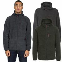 Trespass Barack Mens Fleece with Hood Warm Winter Jumper in Green & Black