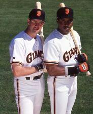 1993 BARRY BONDS & WILL CLARK San Francisco Giants BASEBALL Glossy Photo 8x10