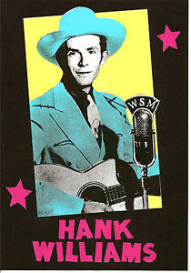 HANK WILLIAMS  POSTER. A3 repro. C&W, Country Music.