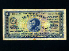 Ethiopia:P-6,2 Thalers,1933 * Haile Selassie * First Issue ! *