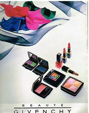 Publicité Advertising 1989 Cosmétique maquillage Givenchy