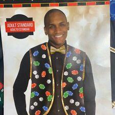 Two Piece Poker Blackjack Dealers Suit Costume