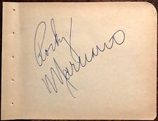 ROCKY MARCIANO AUTOGRAPHED SIGNED ALBUM PAGE 1950's HEAVYWEIGHT CHAMPION 49-0