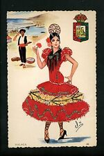 Embroidered clothing postcard Artist Gumier Spain Malaga woman costumes #26