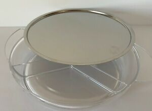 Prodyne IC10 Iced Platter 2 Piece Set Stainless Steel Upper/Lower Polystyrene