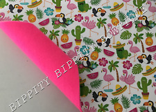 "BRAND NEW ""TROPICAL"" FELT BACKED DOUBLE SIDED FABRIC SHEET..HAIR BOWS"