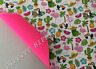 """BRAND NEW """"TROPICAL"""" FELT BACKED DOUBLE SIDED FABRIC SHEET..HAIR BOWS"""