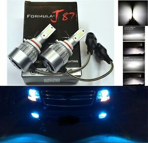 LED Kit C6 72W 9005 HB3 10000K Blue Two Bulbs Head Light High Beam Upgrade Lamp